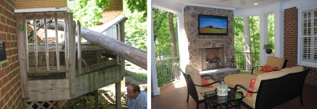 After the Storm Remodel Damaged Deck into Outdoor Living Space