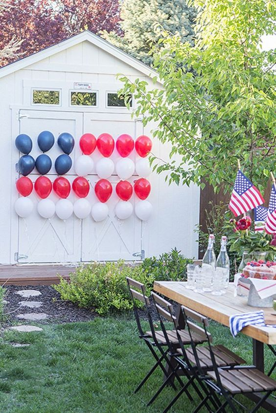 4th of July Party Decor Balloons