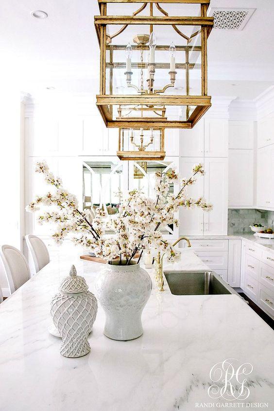 Brass Lighting Fixture Kitchen