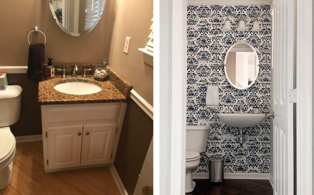Bathroom Remodel Before and After