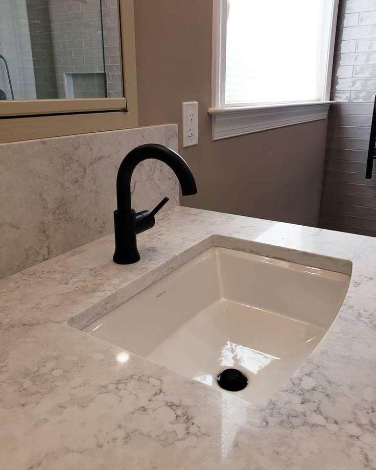 Reed Master Bathroom Remodel Matte Black Fixtures
