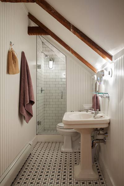Full Bathroom Addition built in eaves of a home