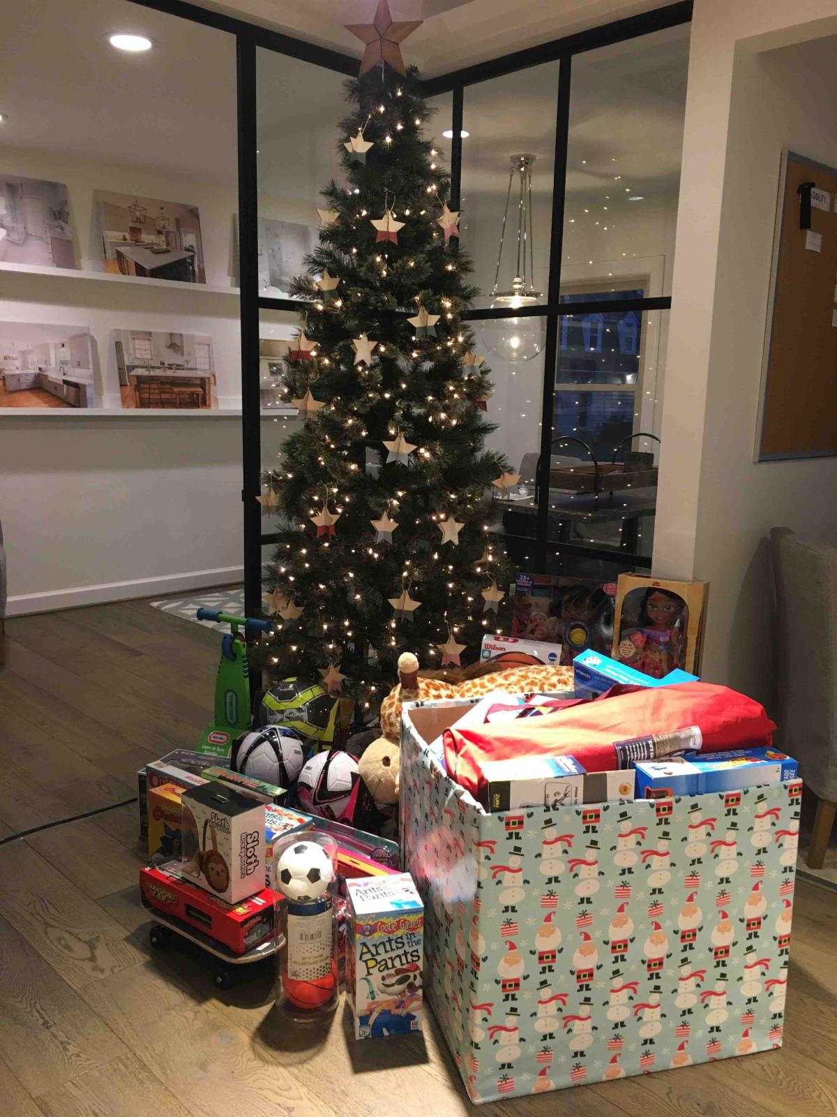 Toys for Tots Collection Hatchett Design Remodel Virginia Beach Showroom