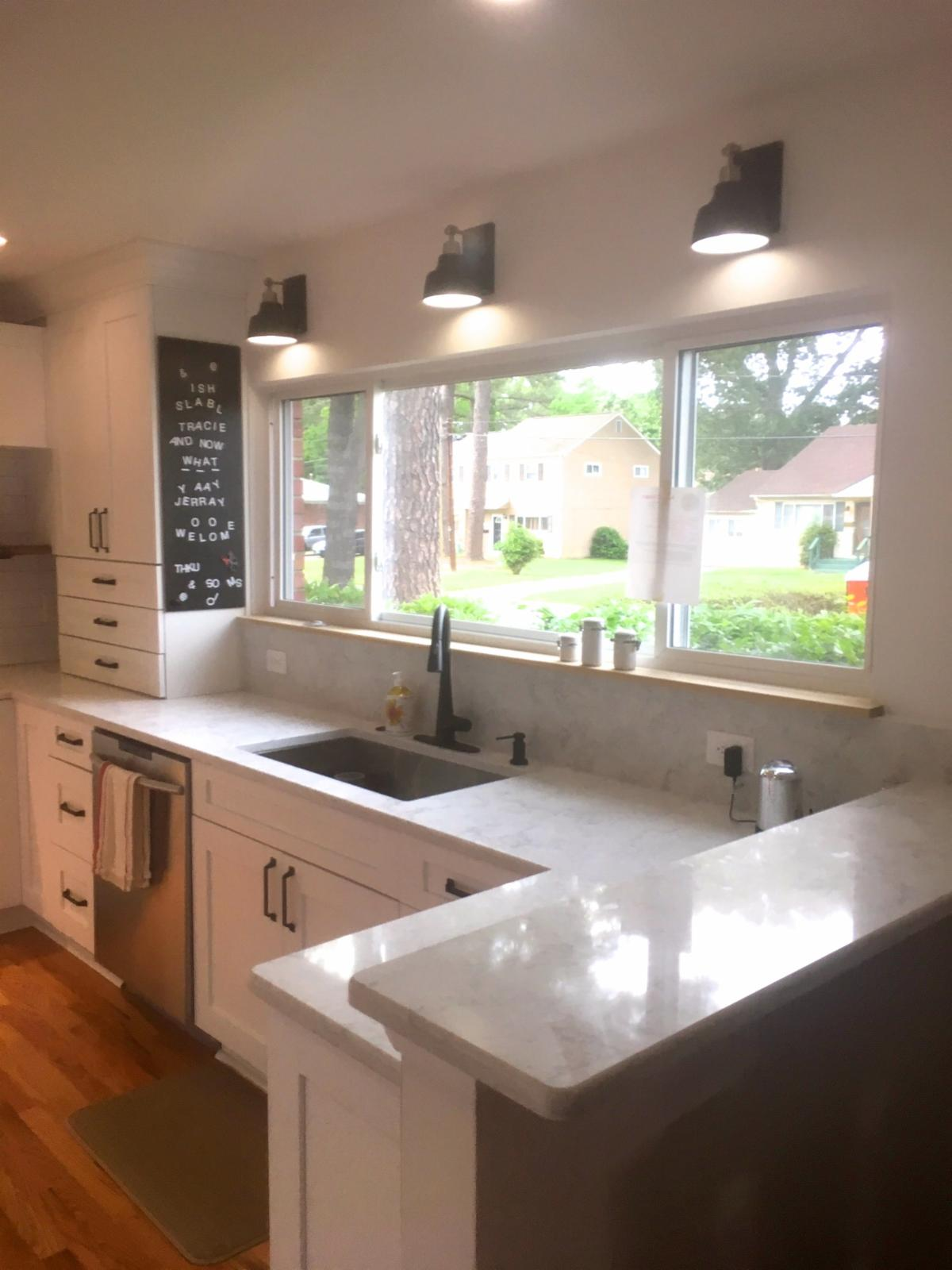 Sowers' Remodeled Kitchen Quartz Countertops with Undermount Sink