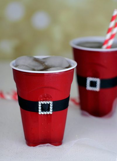 Holiday, Decor, Cups, Red Solo, Santa Belt