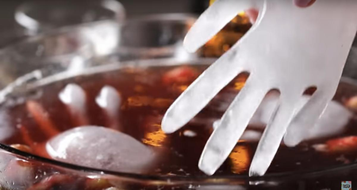 Halloween Eyeball Party Punch with Ice Hands