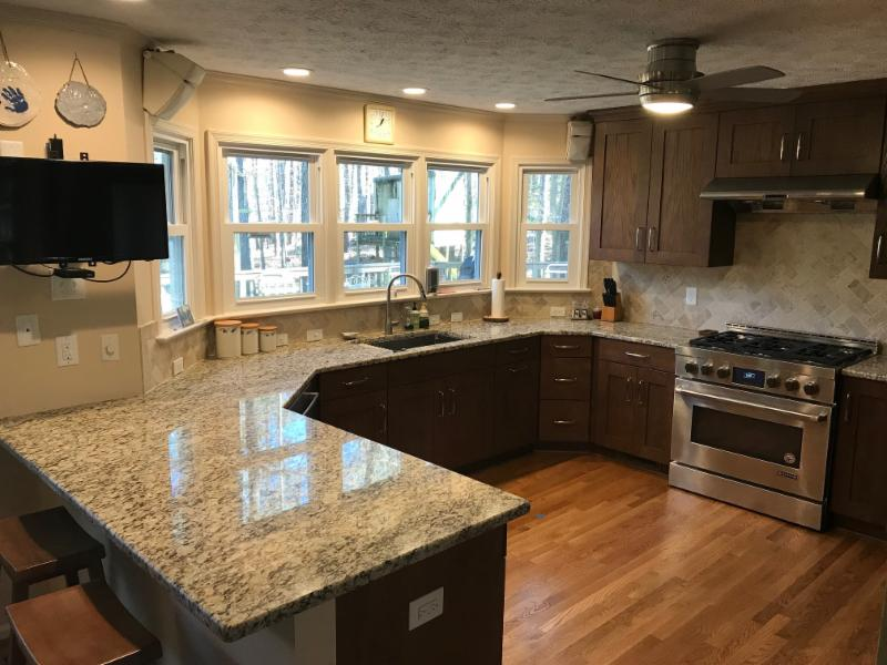 Stout Kitchen Remodel, Granite Countertops, Refinished Hard Wood Floors
