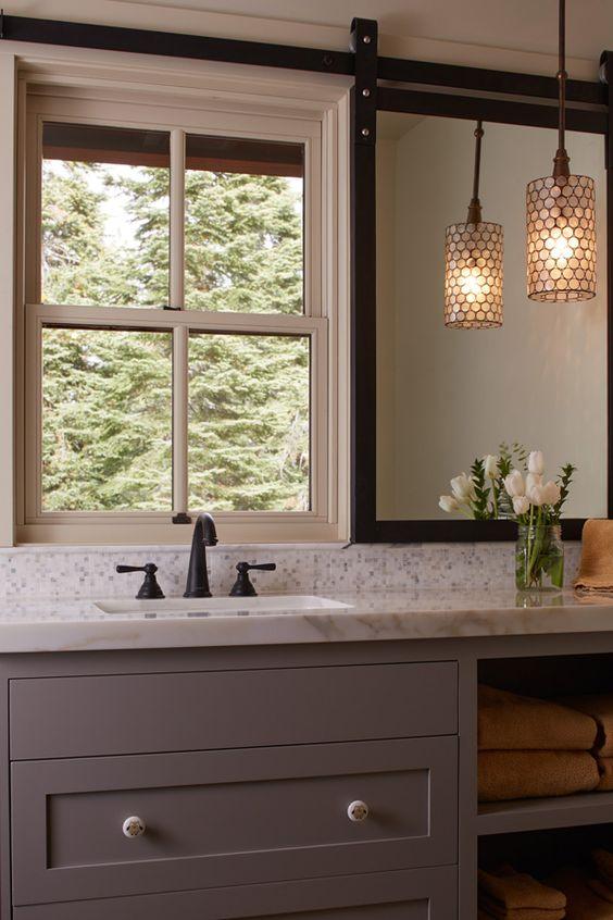 New Bathroom Trend Vanities Under Windows