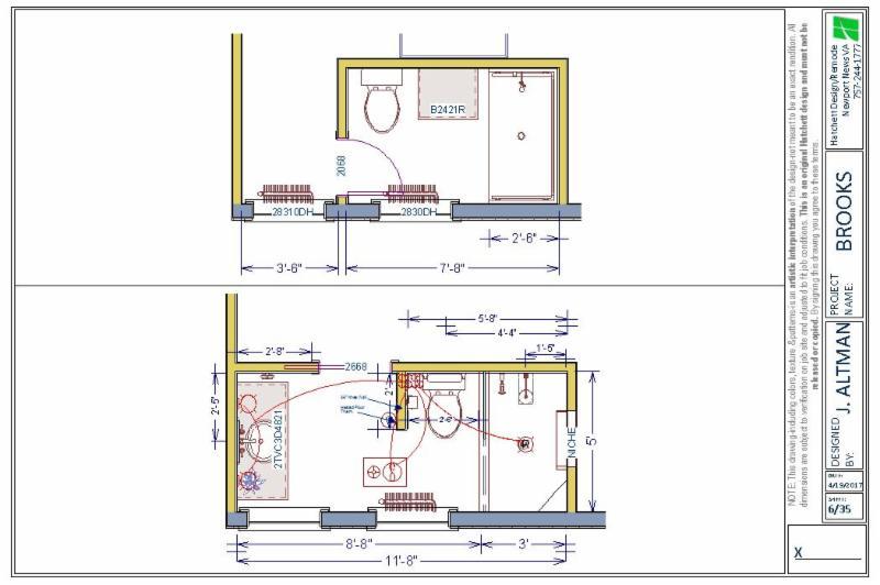 Brooks Bathroom Floor Plan