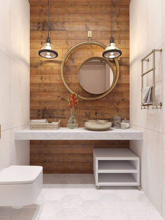 2019 Bathroom Design Trends Asymmetrical Accessories