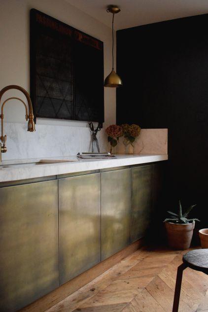 Brass Kitchen Cabinets