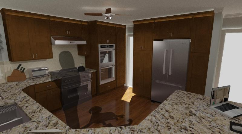 Stout Kitchen Remodel: Photo Real Design Rendering
