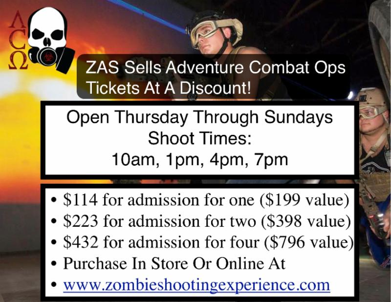 Zombie Apocalypse Store Presents Adventure Combat Ops