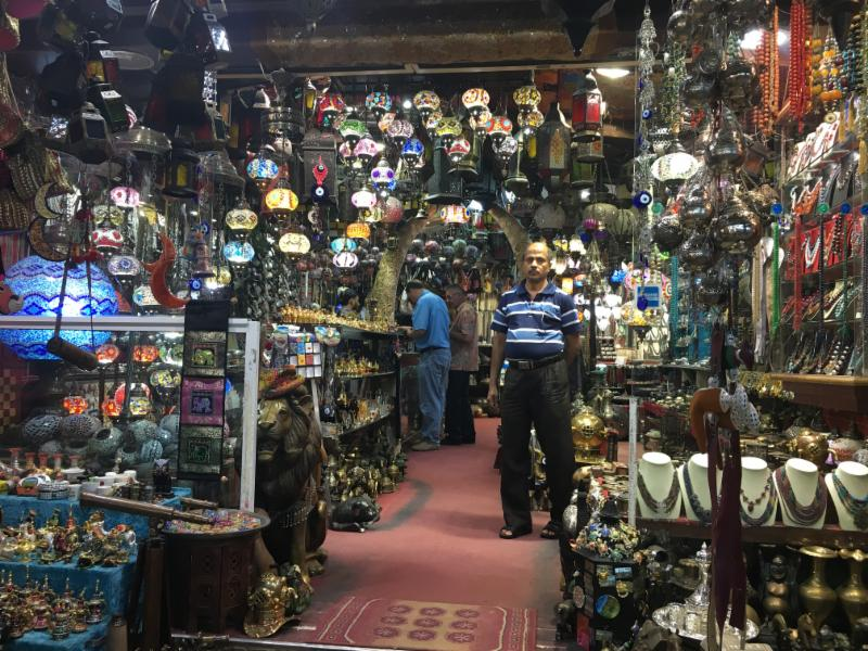 The Mutrah souq in Muscat is an absorbing labyrinth of narrow, perfume-laden alleyways packed with colorful little shops stacked high with tubs of frankincense, old silver khanjars, Bedouin jewelry, and other Omani paraphernalia.