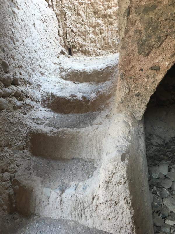 A staircase leads to the second floor and to the roof, where Omanis would sleep during the hot summer months. The roof was also used to wash and dry dates.