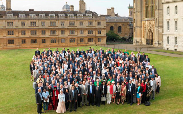 Participants at the Seventh Annual Gulf Research Meeting at Cambridge University. Photo: Gulf Research Center.