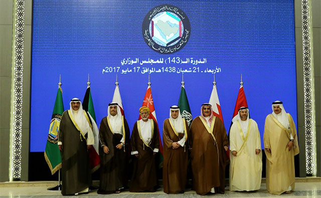 Foreign Ministers from the Gulf Cooperation Council countries meet in preparation for the upcoming GCC-U.S. and Arab-Islamic-U.S. summits in Riyadh, Saudi Arabia, on May 17, 2017.