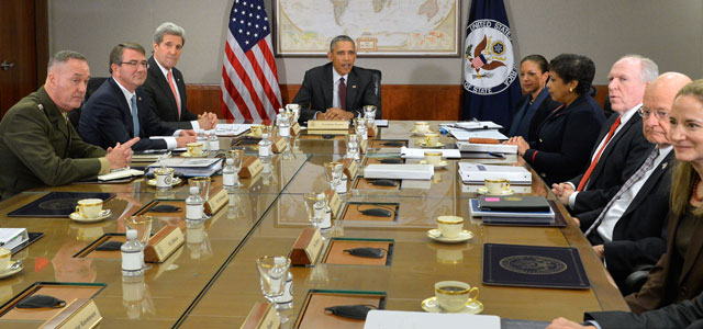 President Barack Obama convenes a National Security Council meeting in Washington, DC, in February 2016. Photo: U.S. Department of State.