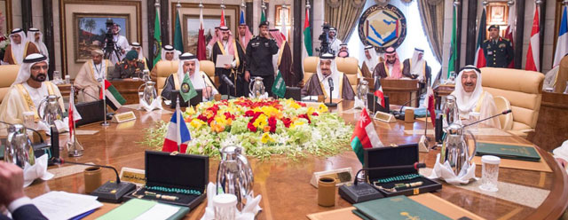 Leaders of the GCC member states hold a consultative meeting in Riyadh, Saudi Arabia, on May 5, 2015, in advance of the upcoming U.S.-GCC summit in Washington and Camp David.