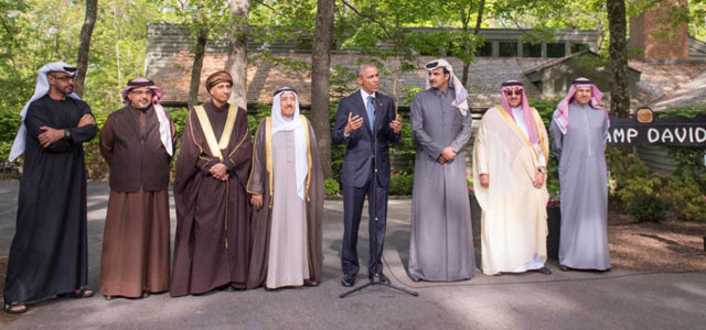 U.S. President Barack Obama hosted leaders of the Gulf Cooperation Council for a summit meeting at Camp David in Maryland, USA, on May 14, 2015.
