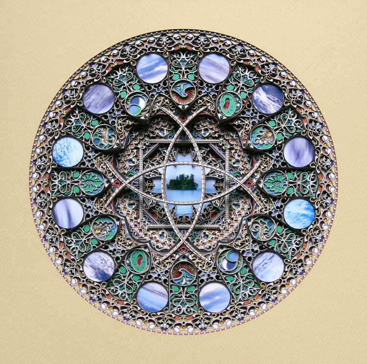 Laser cut artwork by Eric Standley