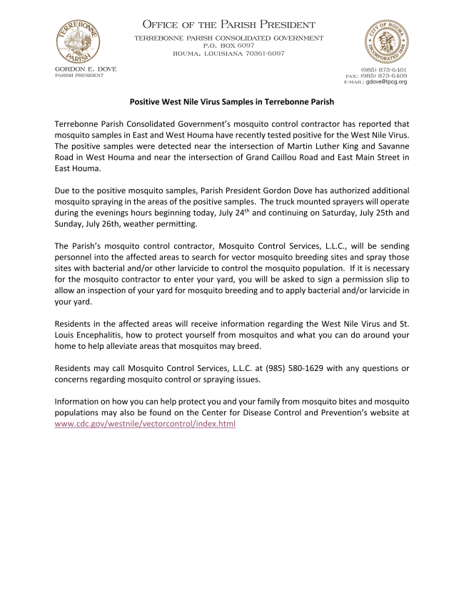 WNV Press Release 072420_Everbridge