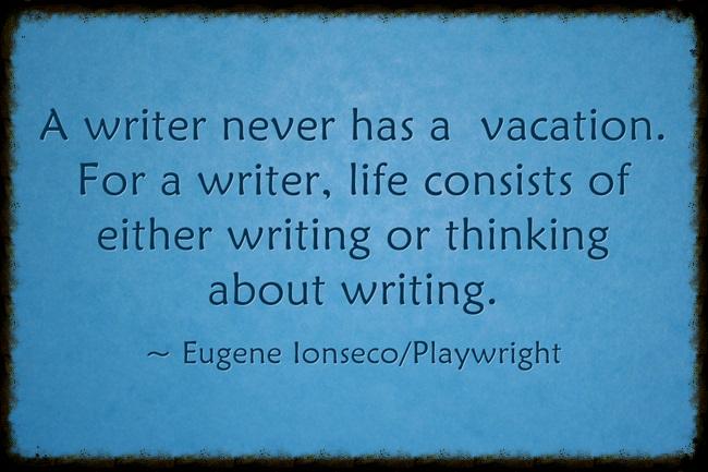 A writer ...