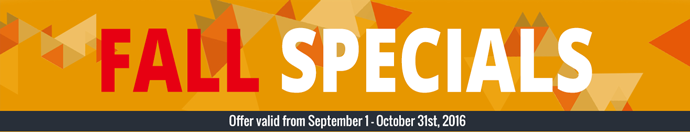 Fall Specials! Save on our featured products! - SDI