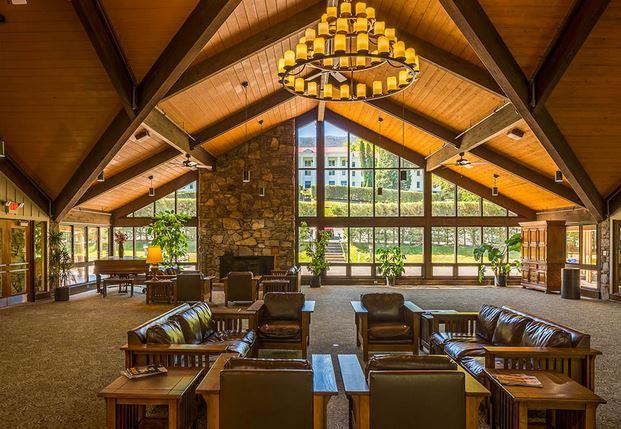 lobby of Blue Ridge Center