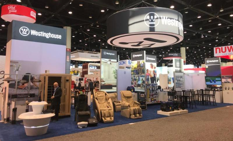 Westinghouse Attends the 2018 International Home + Housewares Show including massage chairs, generators, and more.