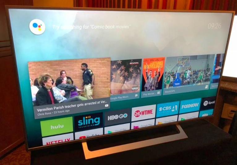 Westinghouse TV shown at CES 2018
