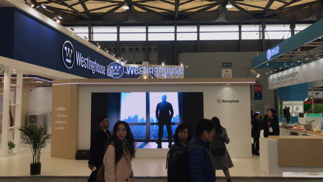 Westinghouse booth at AWE 2018
