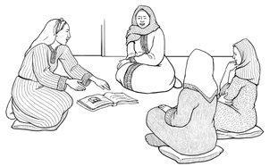 lo-res Arabic women