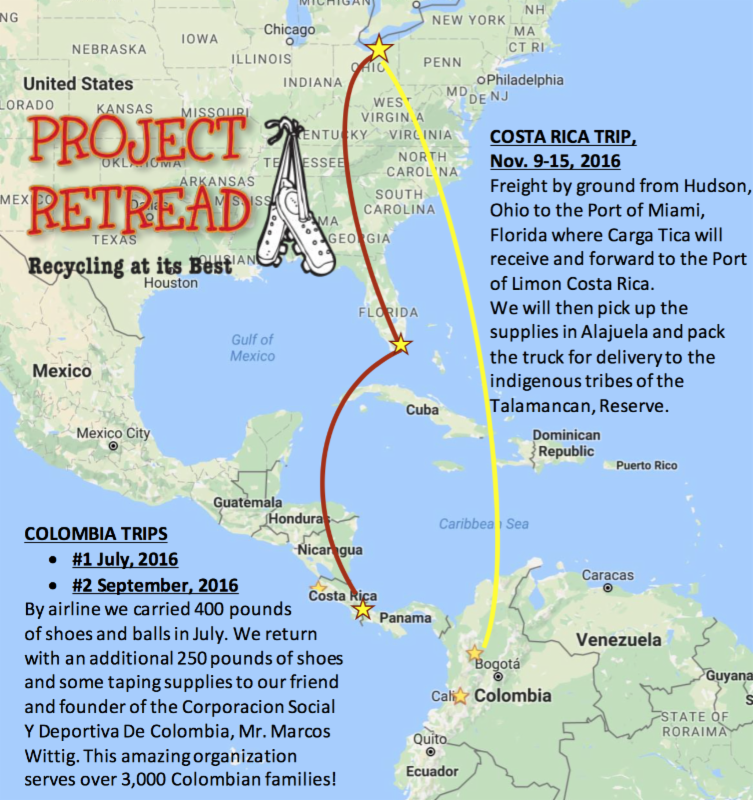 Map of Costa Rica Cargo