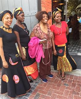 Group at Cape Town's Gold Restaurant