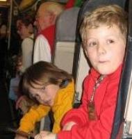 kids in plane