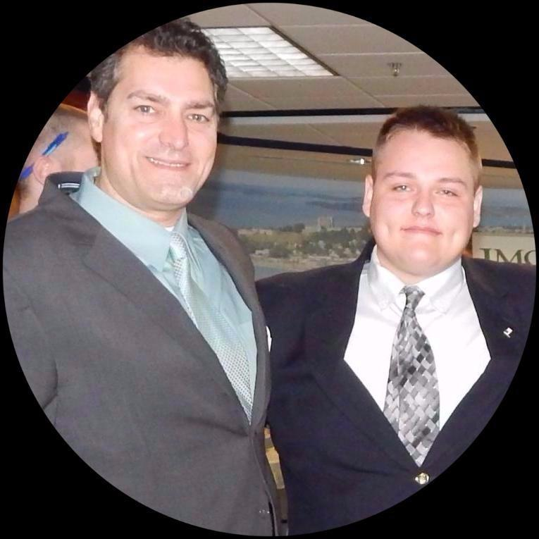 Justin (right) with JMG College Success  Specialist, Carlo Bufano