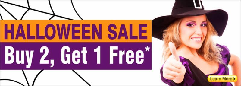 Halloween Sale - Buy 2, Get 1 Free