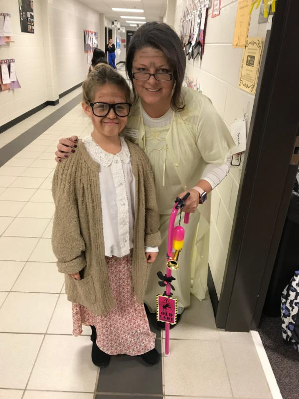 Photo of Baggett ES student and teacher