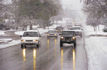 Be cautious with winter driving conditions