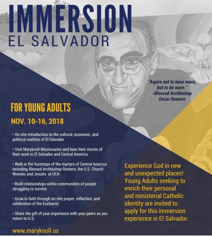 Immersion Trip to El Salvador for Young Adults