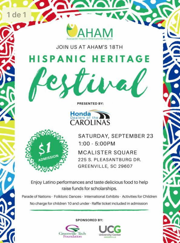 18th Annual Hispanic Heritage Festival @ McAlister Square | Greenville | South Carolina | United States