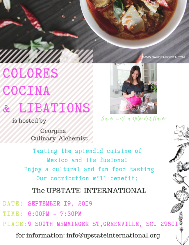 Colores Cocina & Libations: A Mexican Fusion Tasting Event @ Upstate International