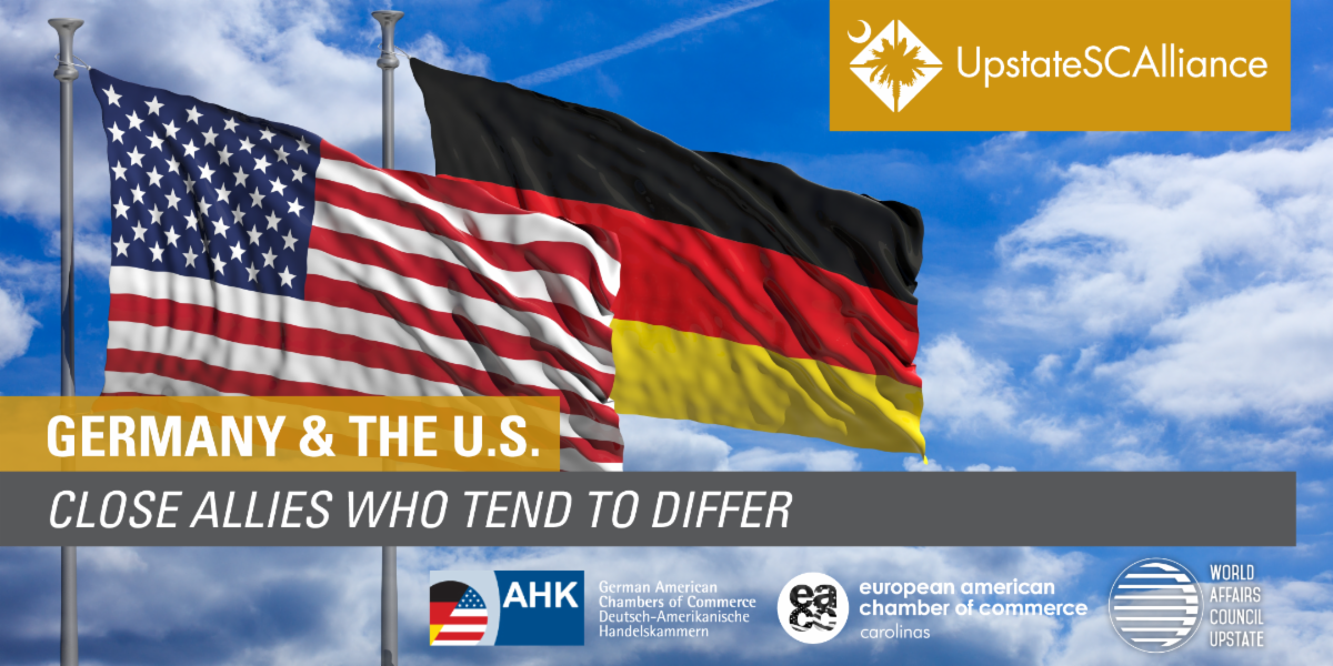 GERMANY & THE U.S.:   CLOSE ALLIES WHO TEND TO DIFFER @ Crowne Plaza