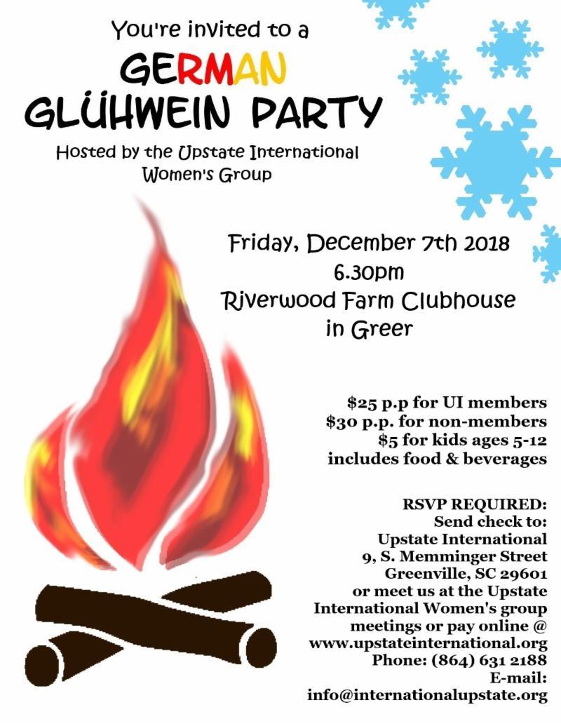8th Annual German Glühwein Party - Upstate International