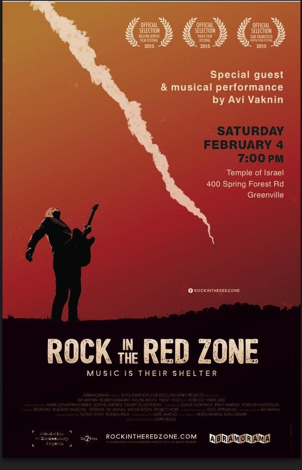 Rock in the Red Zone: Free Movie Screening @ Temple of israel | Greenville | South Carolina | United States