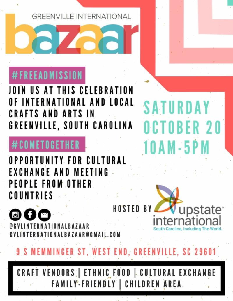 Greenville International Bazaar @ Upstate International | Greenville | South Carolina | United States