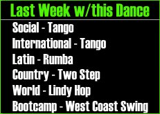 UCBDC Spring 2015 Session Week 9 Dances Covered