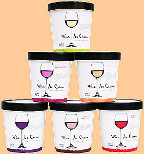 Mercer's Wine Ice Cream!